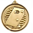"""Cornhole/Bags Medal - Cornhole/Bags antique finish round medals, .102"""" thickness"""