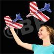 "Patriotic Laser Plane - Patriotic laser plane 7 1/2"", blank."