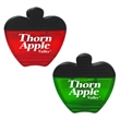 Apple Shaped Translucent Memo Clip With Magnet on Back