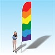 15FT Rainbow Advertising Banner Flag - 15FT Rainbow Advertising Banner Flag