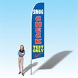 15FT Smog Check Test Only Advertising Banner Flag - Advertising Banner Flag Feather Flag Teardrop Promo Flag Bow Flag Swooper Flag