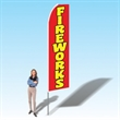 15FT Fireworks Red Advertising Banner Flag - Advertising Banner Flag