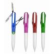 Multi Function File Knife Scissor Pen - Multi function file knife scissors pen.