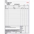 Estimate Form - Carbonless automotive estimate form, two parts.