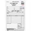 General Repair Order Form - Carbonless general repair form with three parts.