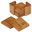 "Bamboo Coasters Square - Bamboo set of 6 coasters 3.75x3.75"""