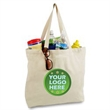 Cotton Canvas Zippered Fashion Tote Bag - Durable, reusable, eco-friendly canvas tote. Zippered top closure and inside pocket.