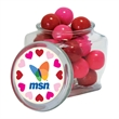 Candy in reusable glass spice jar