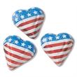 Foil Wrapped Chocolate Mini Flag Hearts