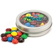 Candy in circular window tin - Assorted jelly beans in a circular window tin, 2.5 oz.