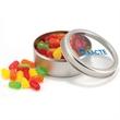 Candy in circular tin - Gourmet jelly beans in a circular tin, 1.5 oz.