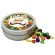 Candy in circular rim tin
