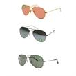 Classic Unisex Gradient Aviator Sunglasses - Classic unisex gradient aviator sunglasses.