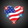 Heart of America Flashing pin