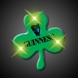 Green shamrock flashing pin