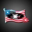 American flag flashing pins - Blank or imprinted. American flag flashing pin with military clutch.