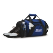 """Game Day Duffel - Duffel bag with ventilated shoe storage section, mesh pockets,. 20"""" woven handles and adjustable, detachable shoulder straps."""