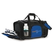 Trainer Duffel - Duffel bag with ventilated shoe section, numerous pockets, woven handles and adjustable, detachable shoulder straps.