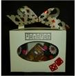 Casino Tote 8oz - Window tote contains 8-oz casino shaped novelty chocolates