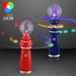 Orbiting LED toy wand with crystal ball