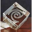 Extra Large Jewel Cube 3D Crystal Award - Extra-large 3D crystal jewel cube.