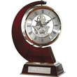 """Swerve Skeleton Clock - 9.5"""" x 6.63"""" x 3.38"""" skeleton clock with rotating clock and two-tone design."""