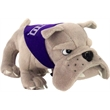 "6"" Gray Mean Bulldog with bandana and one color imprint"