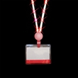 Light Up Lanyard - LED - Red Clip and Light Up lanyard with rotating swivel clip.