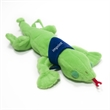 """9"""" Green Lizard with Bandana and One Color Imprint - Stuffed 9"""" green lizard with accessory and imprint"""