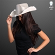 Silver Sequin Cowboy Hat