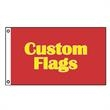 12in x 18in Custom Knitted Polyester Flags - 12in x 18in Custom Knitted Polyester Flags