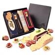 Shelf-Stable Wisconsin Delights - Faux leather gift box filled with shelf-stable cheese, sausage, and crackers