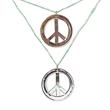Metallic Peace Necklaces