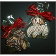 Fortune Cookie 3-Pack - Three chocolate dipped fortune cookies with custom message in bag with bow