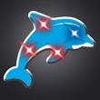 LED Light Up Dolphin Flashing Pin