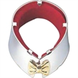 Tuxedo Wine Bottle Drip Collar, Silver Plated (With Gold Bow