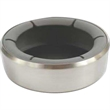 Bottle Coaster by VacuVin (TM) - Rubber clamp-on bottle coaster with stainless steel outside rim.