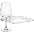 Party Plate with Built-In Stemware Holder, Plastic