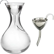Classic Decanter With Classic Wine Funnel, Silver Plated Wit - Decanter with classic wine funnel, silver plated with screen.