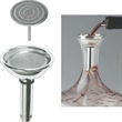 Splay Wine Decanter Funnel - Silver plated splay wine decanter funnel. Blank.
