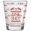 "Professional ""One Sot"" Shot Glass, 2 oz With Lines"