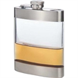 Clear Stainless Steel Pocket Flask, 6 oz