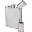Double-Shot Captive-Top Pocket Flask, 6 oz