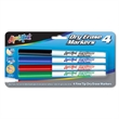 4 Pack Dry Erase Markers - Fine Tip - USA Made
