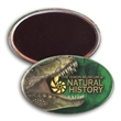 """Oval Button w/ Magnet - 1 3/4"""" x 2 3/4"""" oval shaped button with magnetic backing and 4-color process imprint."""