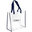 Clear Stadium Handbag / Tote / Security - Clear stadium bag Tote  made of Transparent PVC.