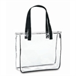 Clear Stadium Zipper Tote Bag - Clear zipper tote bag made of transparent PVC.