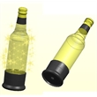 Bottle Light 1 - LED bottle light glorifier coaster snaps on to the bottom of a longneck bottle