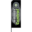 10ft Advertising Flag with Ground Stake - 10ft Advertising Flag with Ground Stake