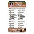 "Sports Schedule Microfiber Cloth, Baseball - Full Color Microfiber Cloth Baseball Sports Schedule 4"" x 7""."